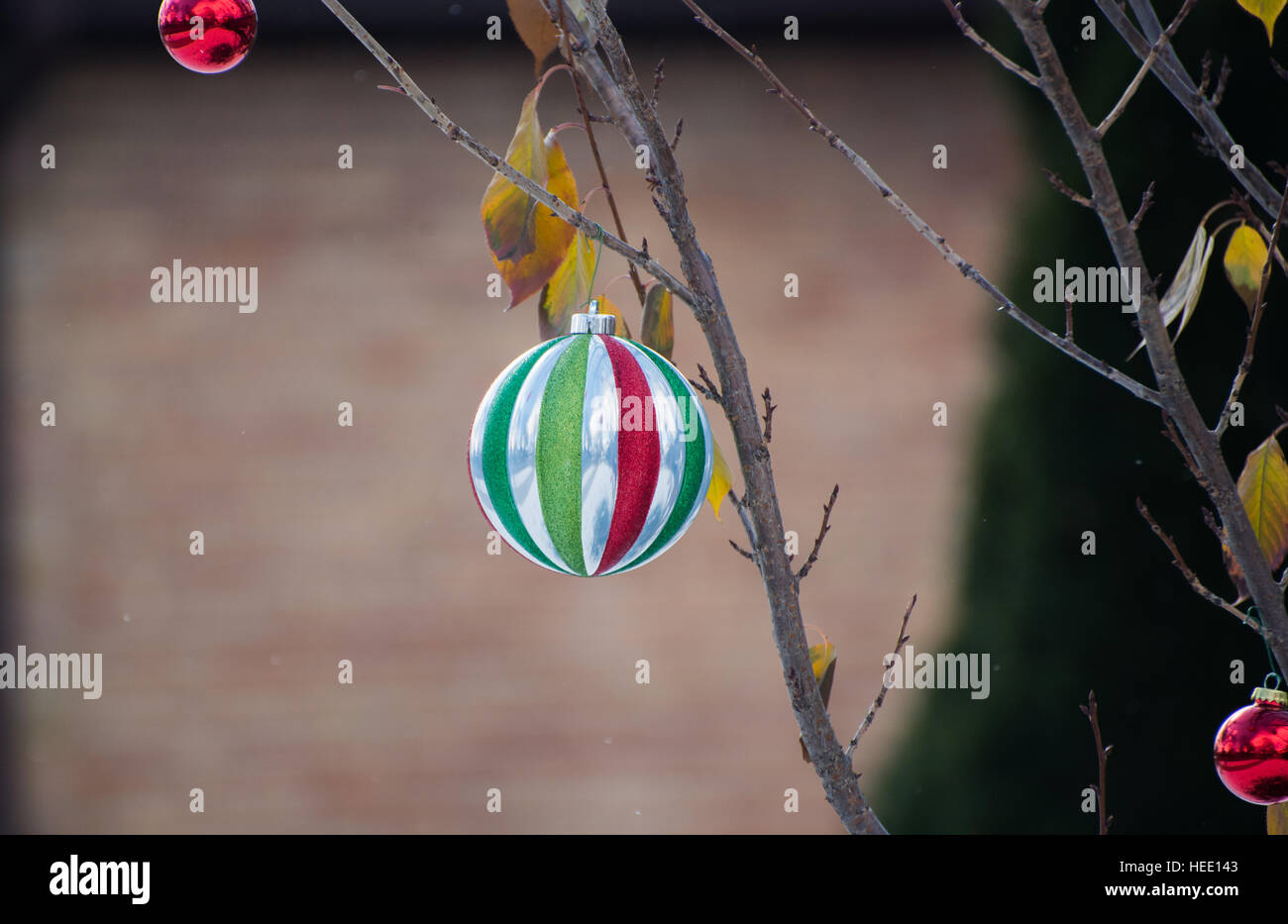 Outside Christmas decoration - Stock Image