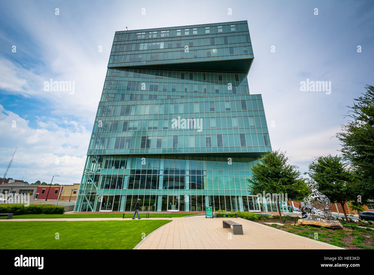 The UNC Charlotte Center City Building, in Uptown Charlotte, North Carolina. - Stock Image