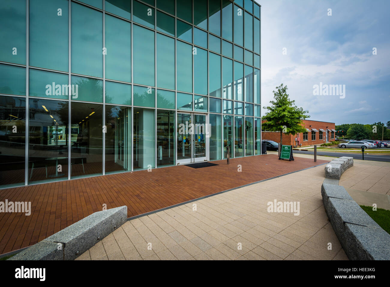 The UNC Charlotte Center City Building in Uptown Charlotte, North Carolina. - Stock Image