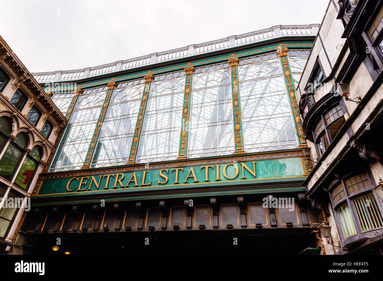 picture of the central station of Glasgow, Scotland, UK - Stock Image