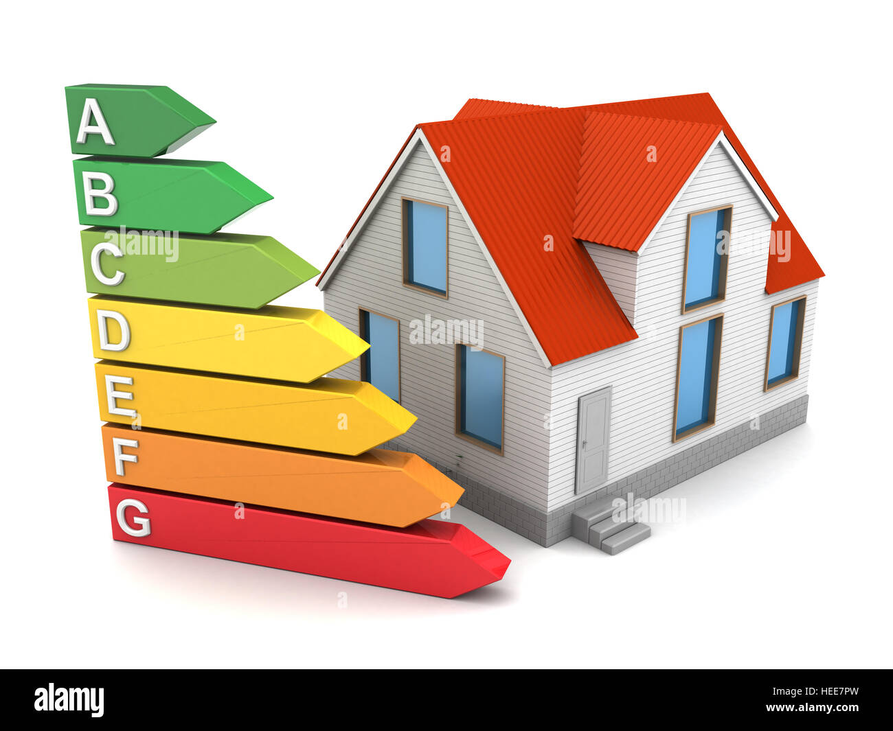 Good Abstract 3d Illustration Of House Energy Class
