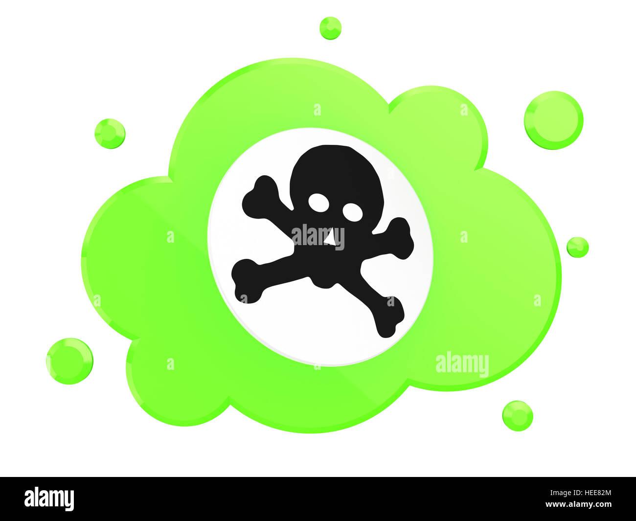 3d Illustration Of Poison Cloud Symbol Over White Background Stock