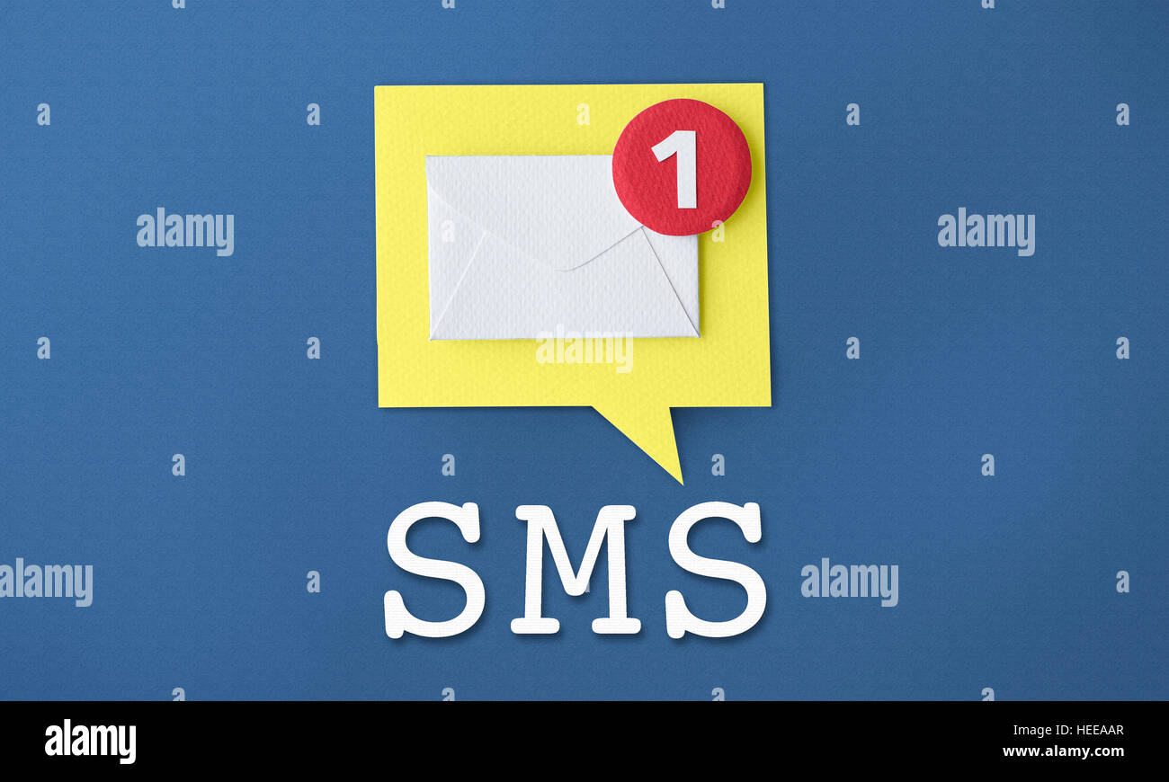 Message Notification Inbox Envelope Concept - Stock Image
