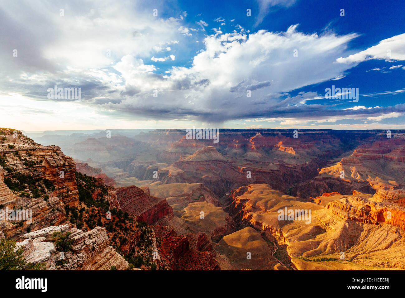 Grand Canyon National Park is the United States 15th oldest national park. Named a UNESCO World Heritage Site in - Stock Image