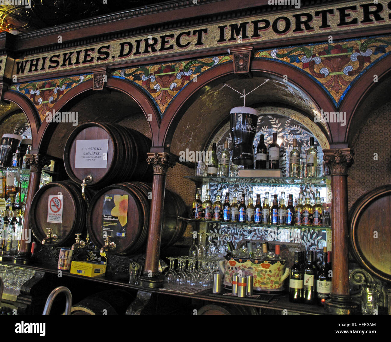 Inside of Famous Crown Bar,Gt Victoria St,Belfast - Stock Image