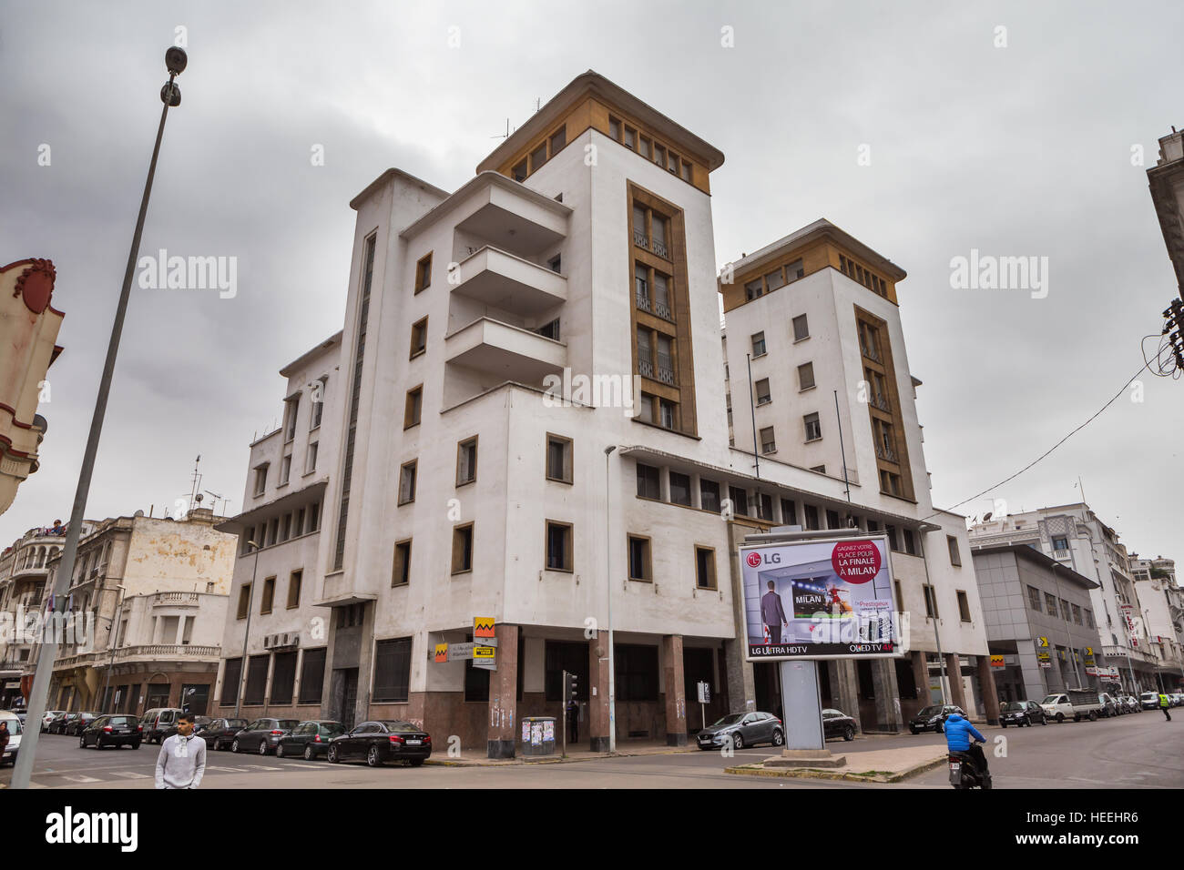 French Colonial Architecture Casablanca Morocco Stock Photo