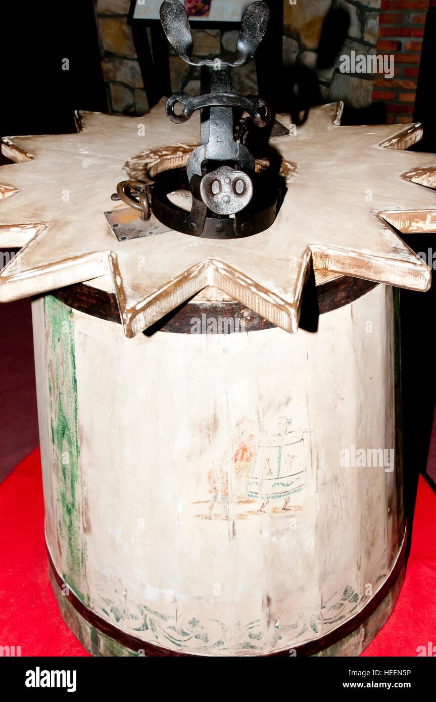 Drunkard's Cloak Torture Device - Stock Image