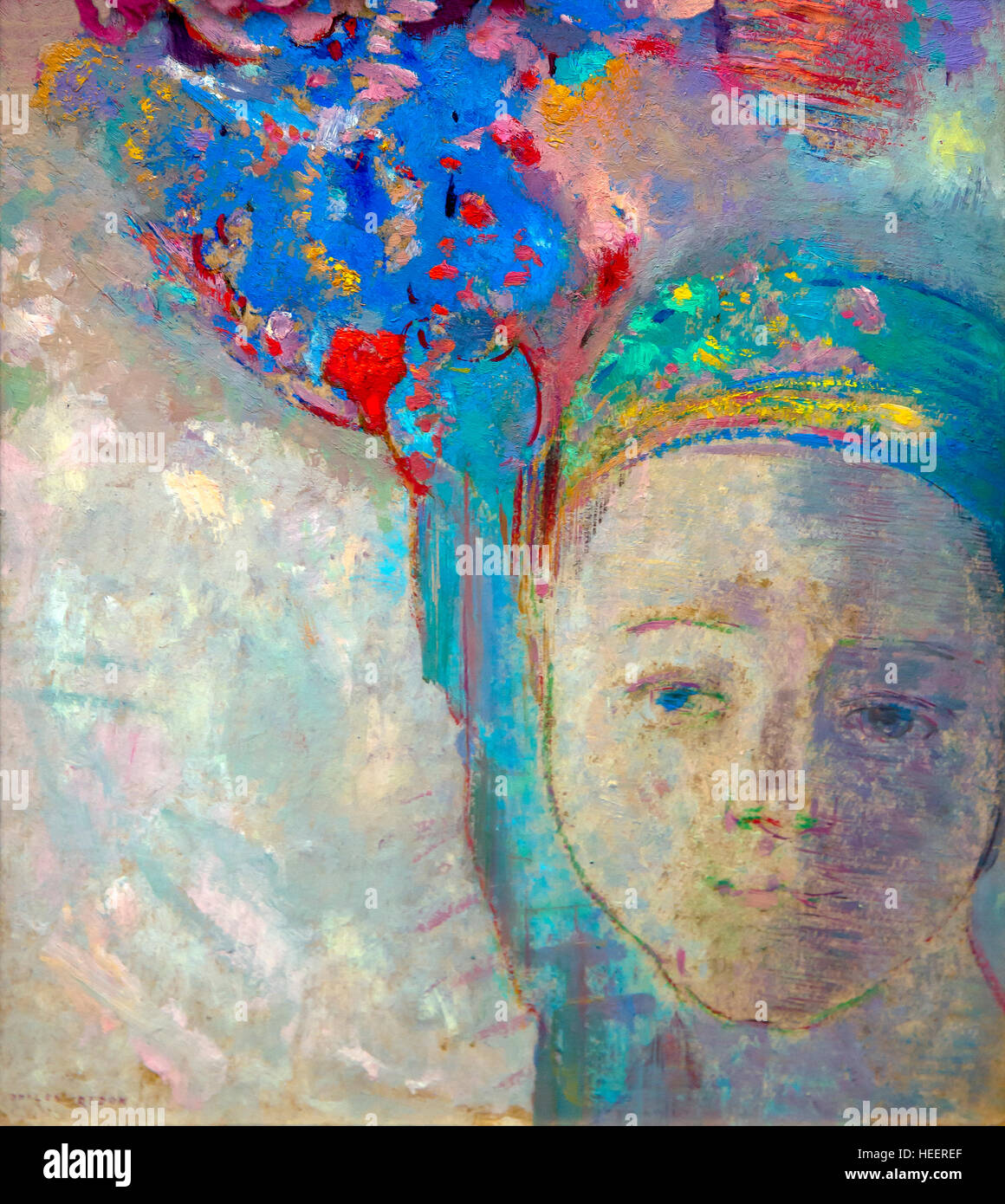 The Palm, by Odilon Redon, 1899, Kroller-Muller Museum, Hoge Veluwe National Park, Otterlo, Netherlands, Europe - Stock Image