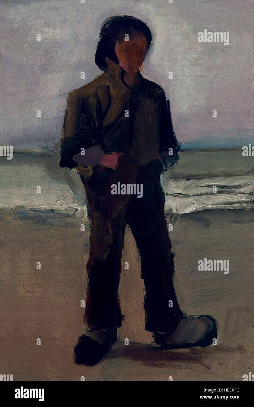 Fisherman, by Vincent van Gogh, 1883, Kroller-Muller Museum, Hoge Veluwe National Park, Otterlo, Netherlands, Europe - Stock Image