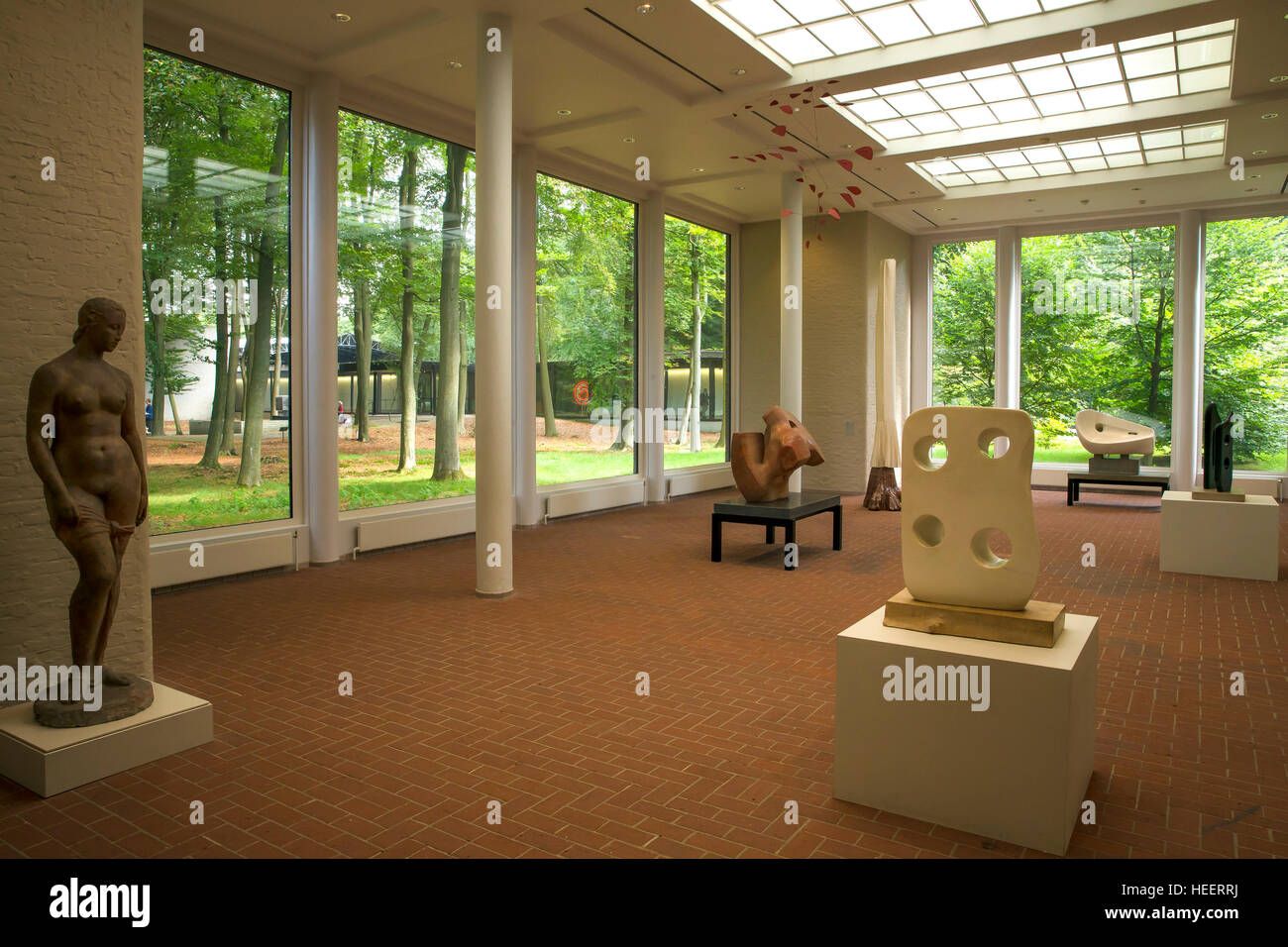 Interior of Kroller-Muller Museum, Hoge Veluwe National Park, Otterlo, Netherlands, Europe - Stock Image