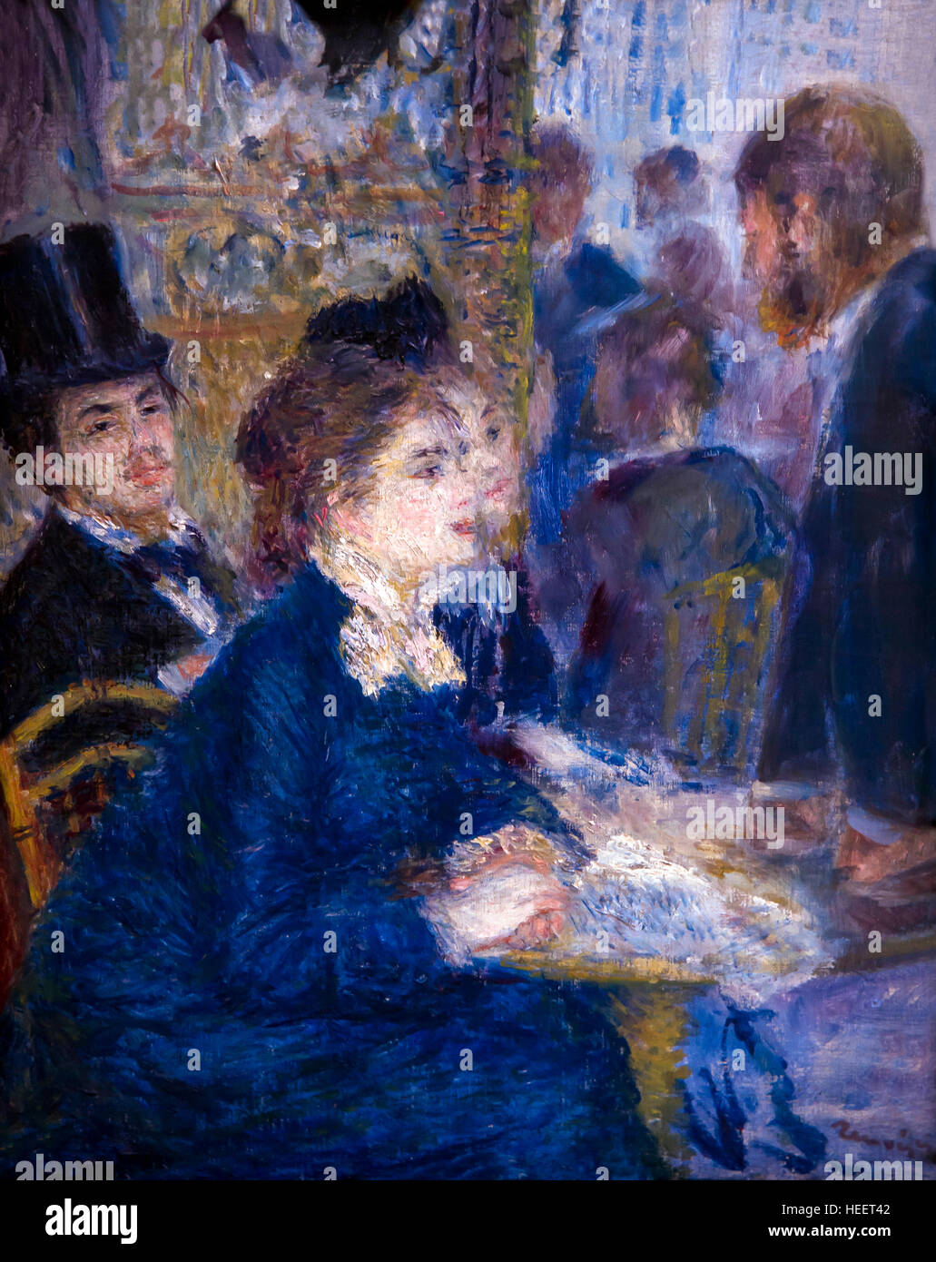 In the Cafe, Au Cafe, by Auguste Renoir, circa 1877, Kroller-Muller Museum, Hoge Veluwe National Park, Otterlo, - Stock Image