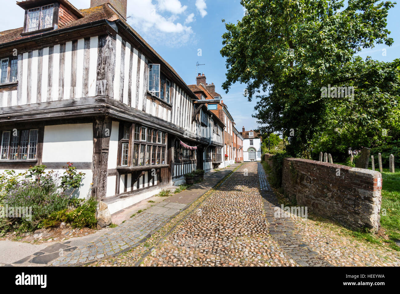 England, Rye. Church Square, St Anthony's, timber framed late medieval Tudor wealthy merchant's house, 16th - Stock Image