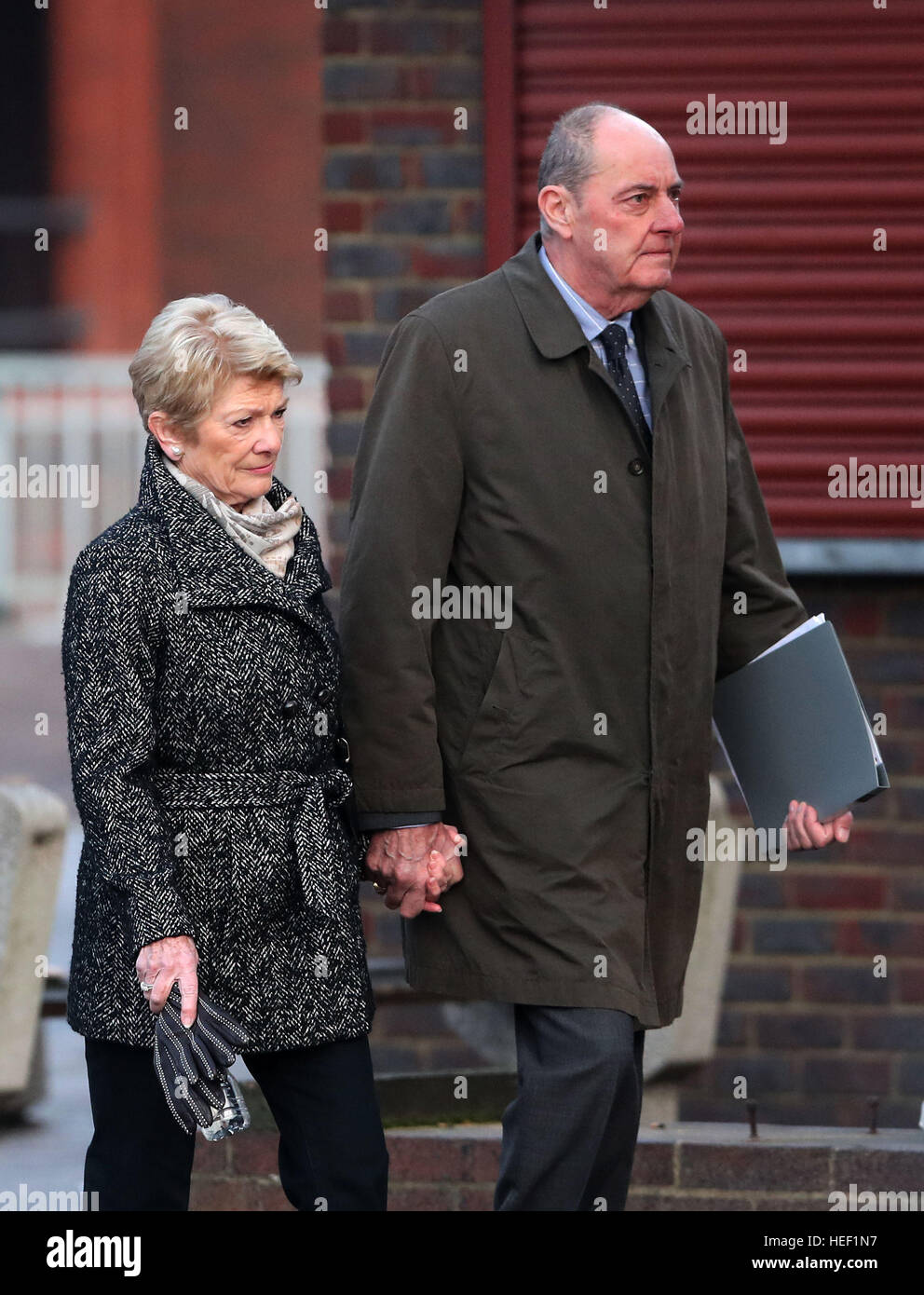 Pauline and Michael Cranch, parents of stuntman Matthew Cranch, arrive at Maidstone Crown Court for the sentencing - Stock Image