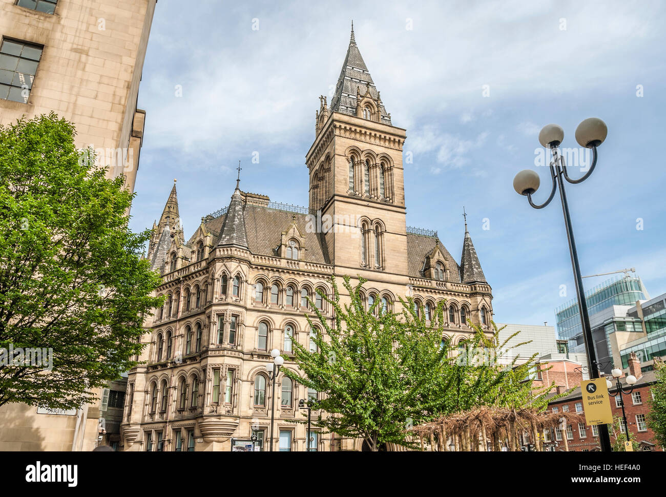 Manchester Town Hall is a building in Manchester, England that houses Manchester City Council. - Stock Image