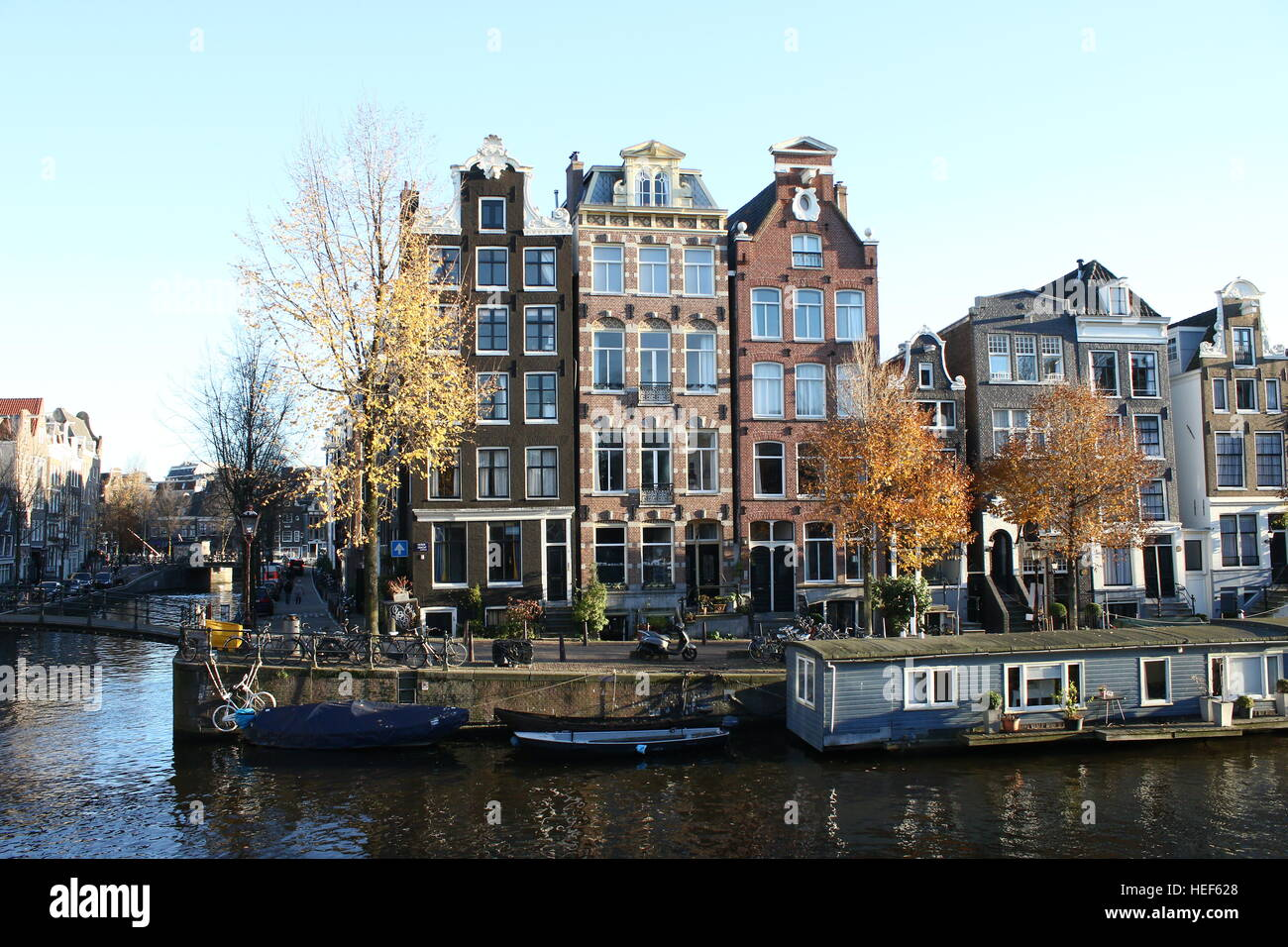 Amsterdam canal winter stock photos amsterdam canal for Herengracht amsterdam