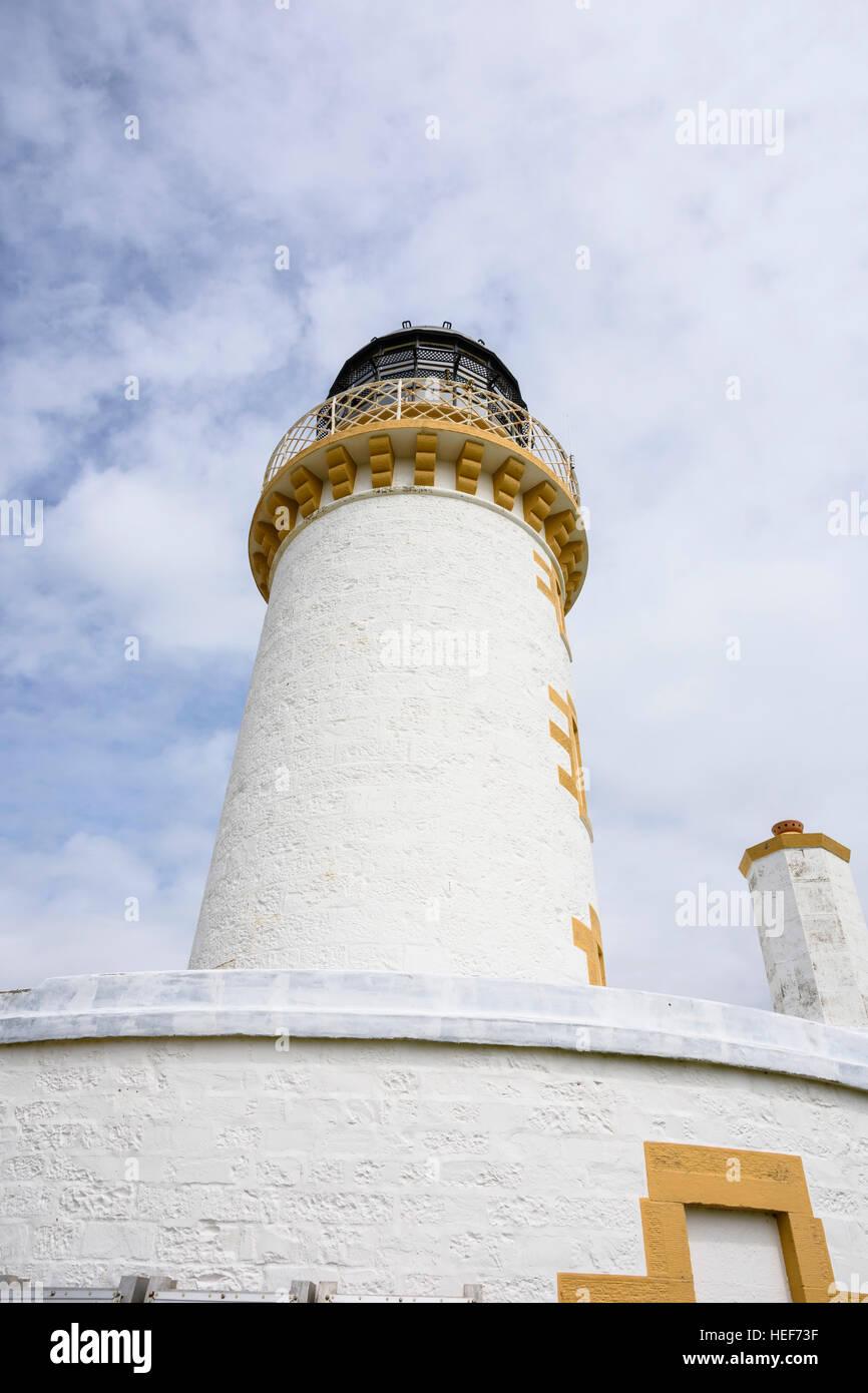 Ross Lighthouse, Ross Island, Solway Firth, near Kirkcudbright - Stock Image