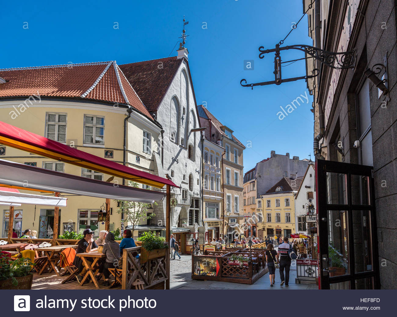 Tallinn old town, street view - Stock Image