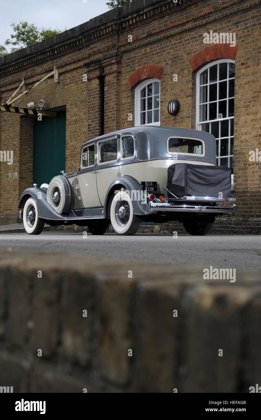 1934 Packard vintage American luxury car - Stock Image