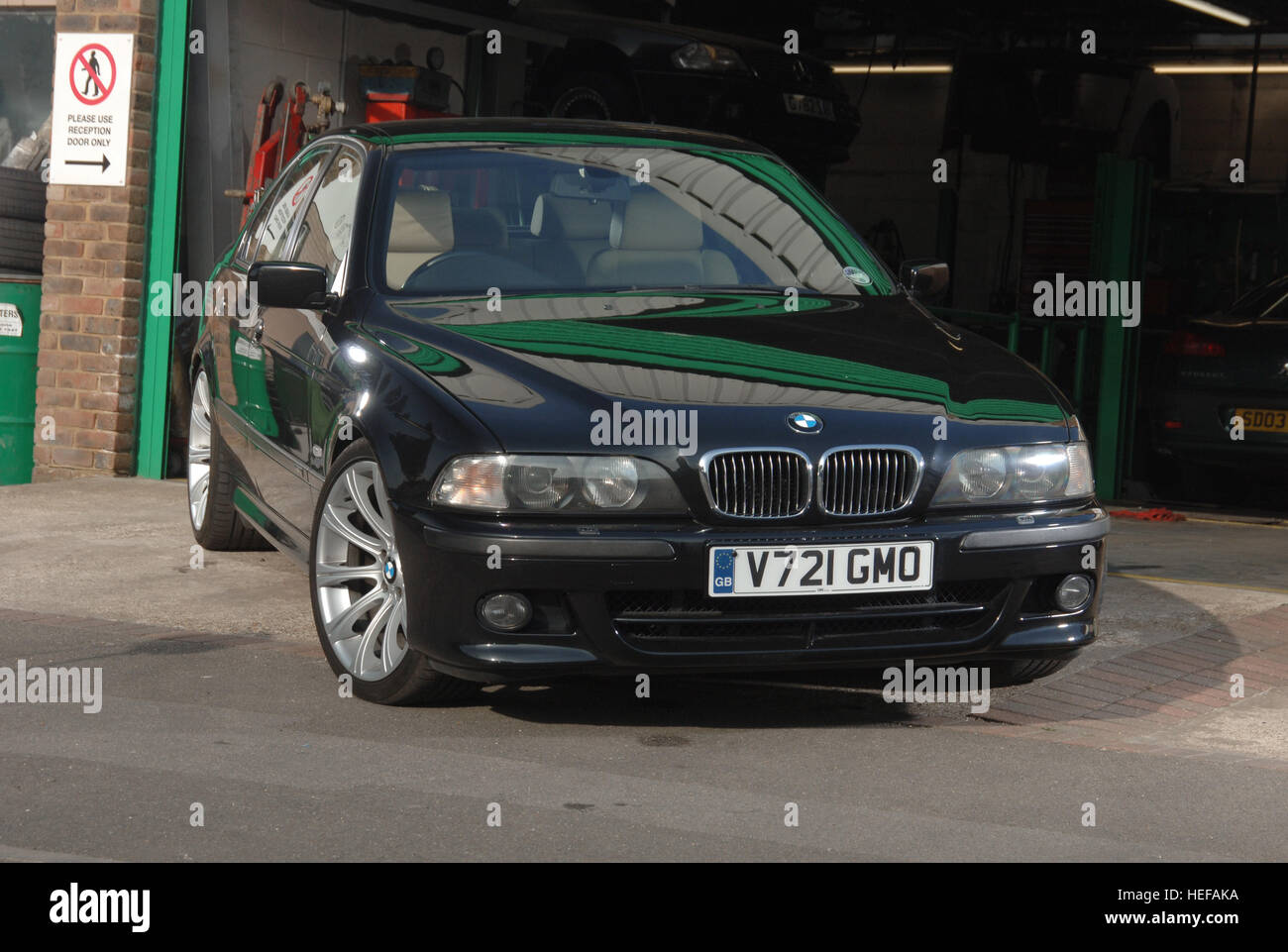 1989 Bmw E39 5 Series Saloon Young Timer Modern Classic Car Stock