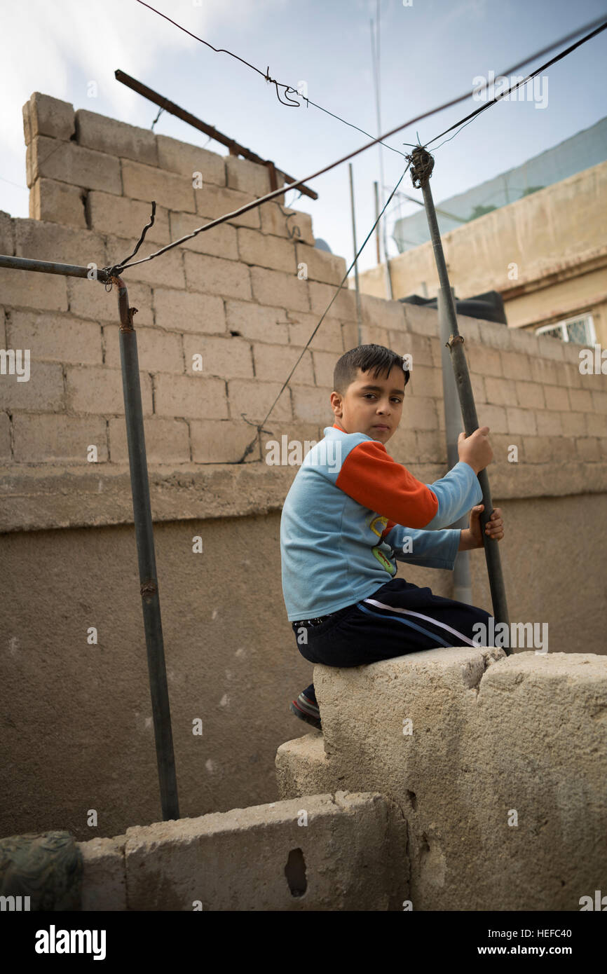 Refugee child in Zarqa, Jordan. - Stock Image