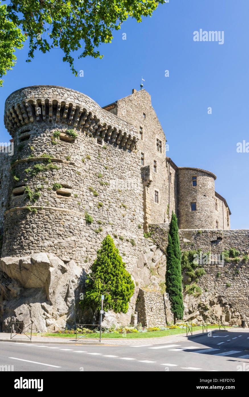 The Château de Tournon, Tournon-sur-Rhône, Ardèche, Auvergne-Rhône-Alpes, France - Stock Image
