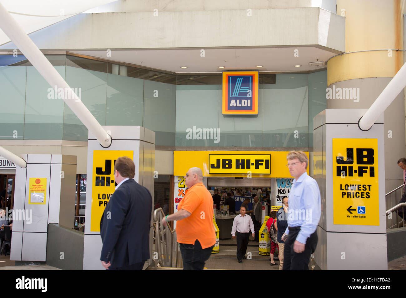 JB HI-FI hifi electrical electronics store in North Sydney, JB Hifi also own the Good Guys retail chain,Australia - Stock Image