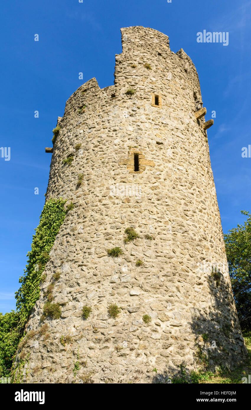 The medieval Pierregourde Tower, Tournon-sur-Rhône, Ardèche, France - Stock Image