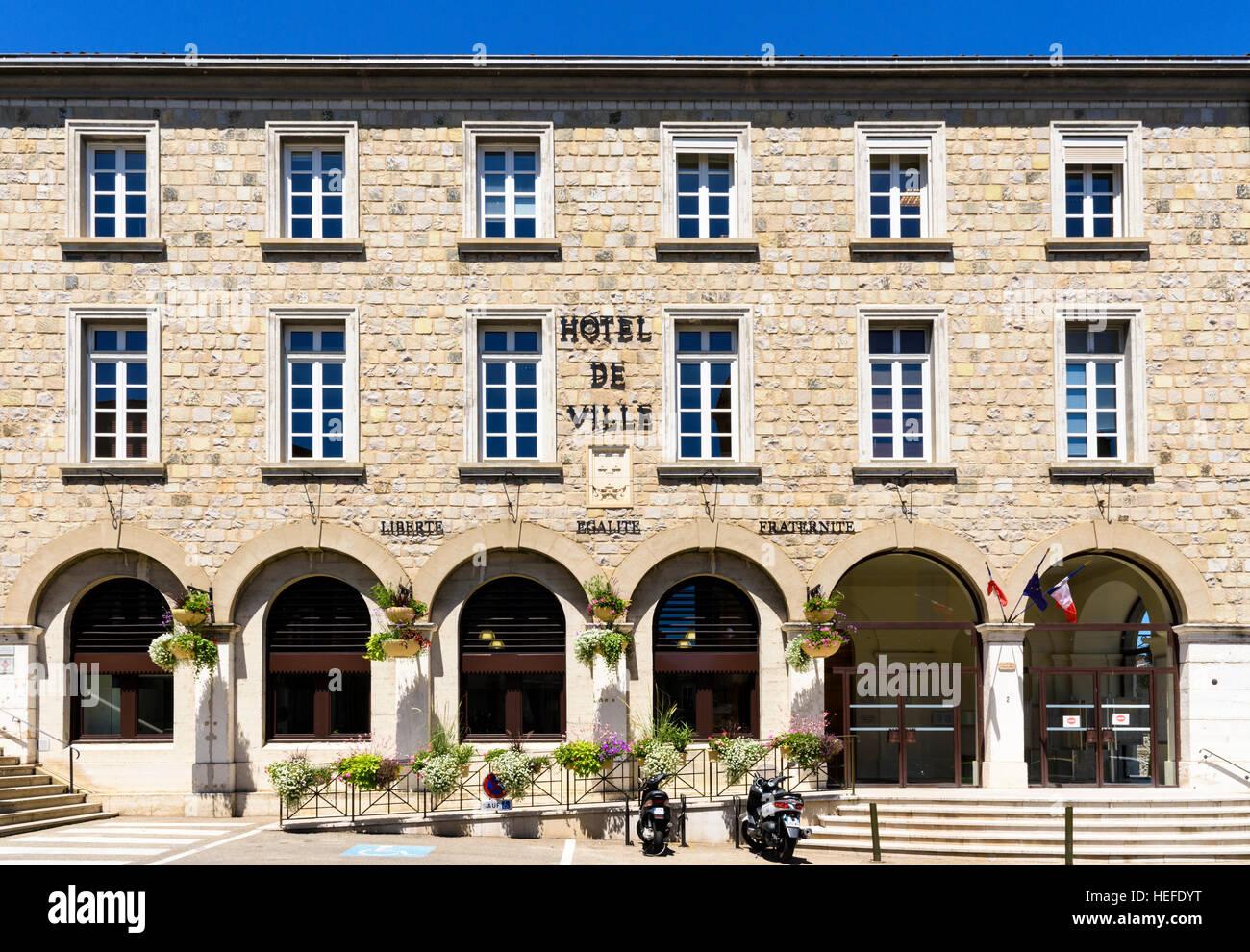 Hotel de Ville, Tournon-sur-Rhône, Ardèche, France - Stock Image