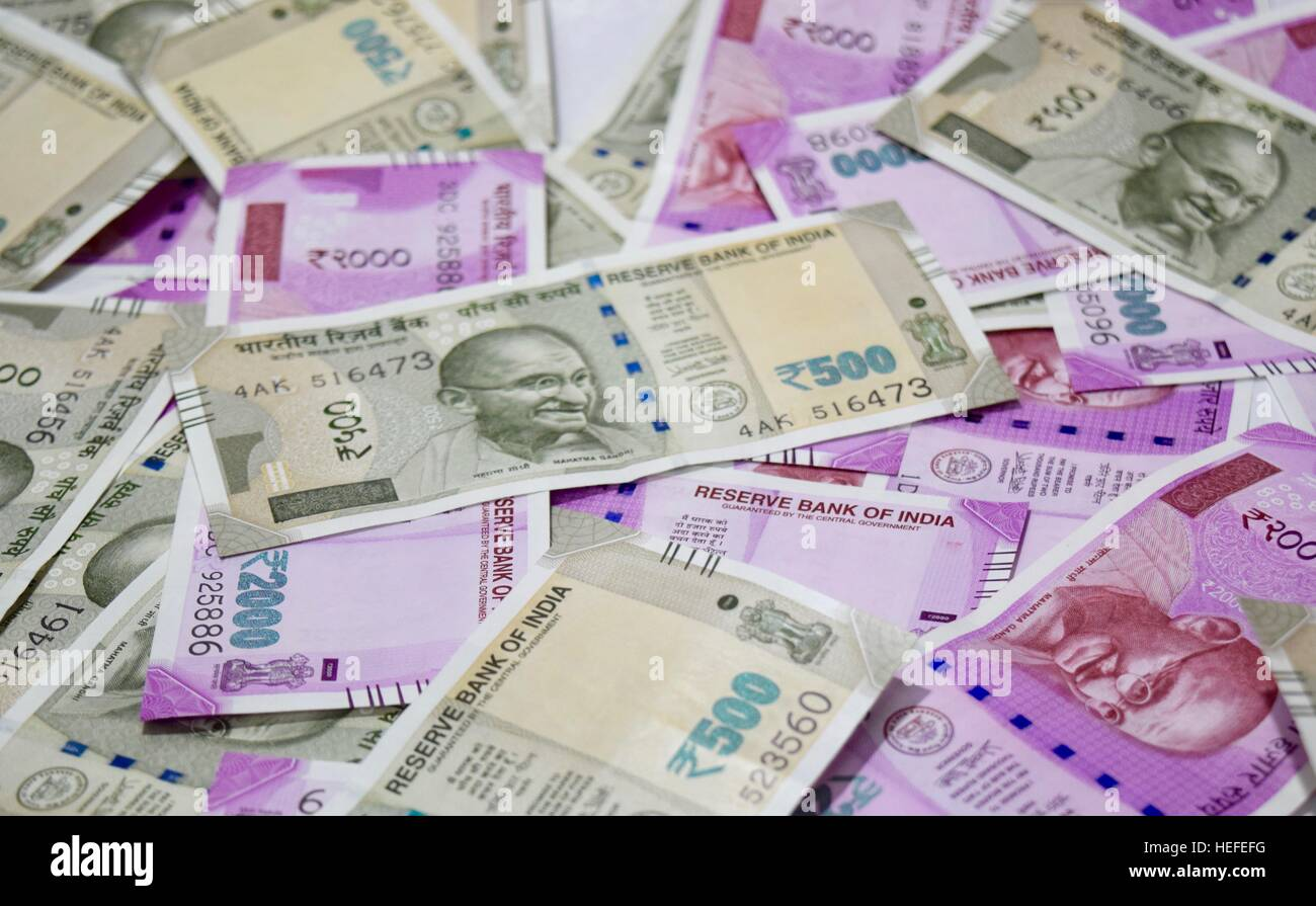 New Indian Paper currency Stock Photo: 129418452 - Alamy