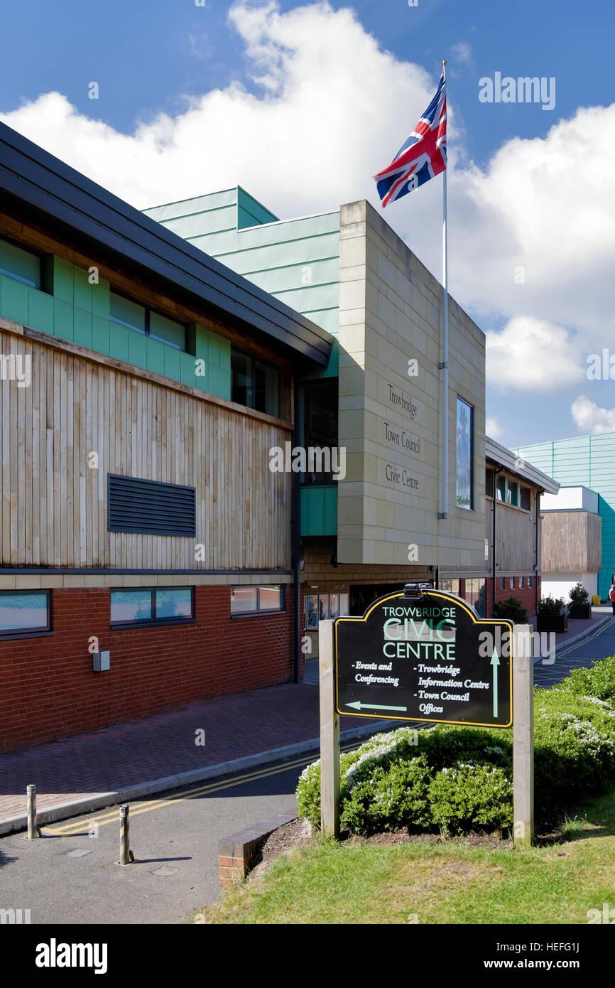 Trowbridge Town Council Civic Centre, Wiltshire, United Kingdom. - Stock Image
