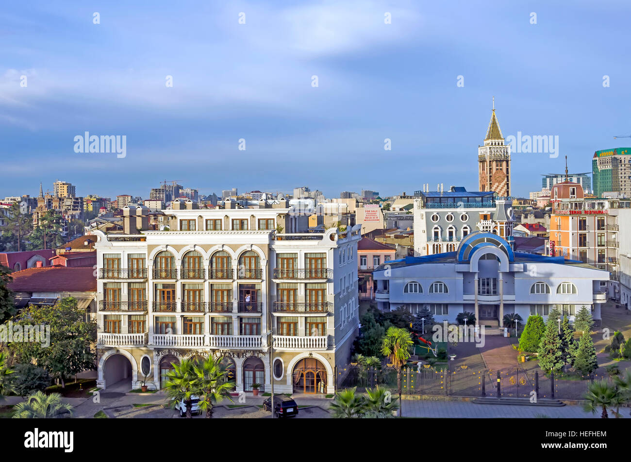 Batumi Georgia Skyline buildings architecture black sea resort - Stock Image