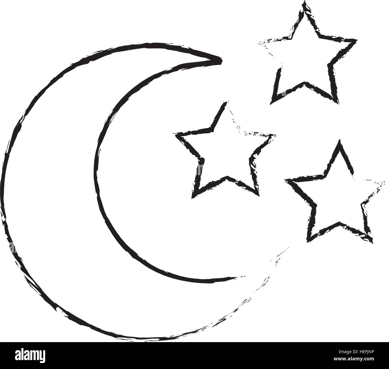 Crescent Moon Symbol Stock Vector Images Alamy