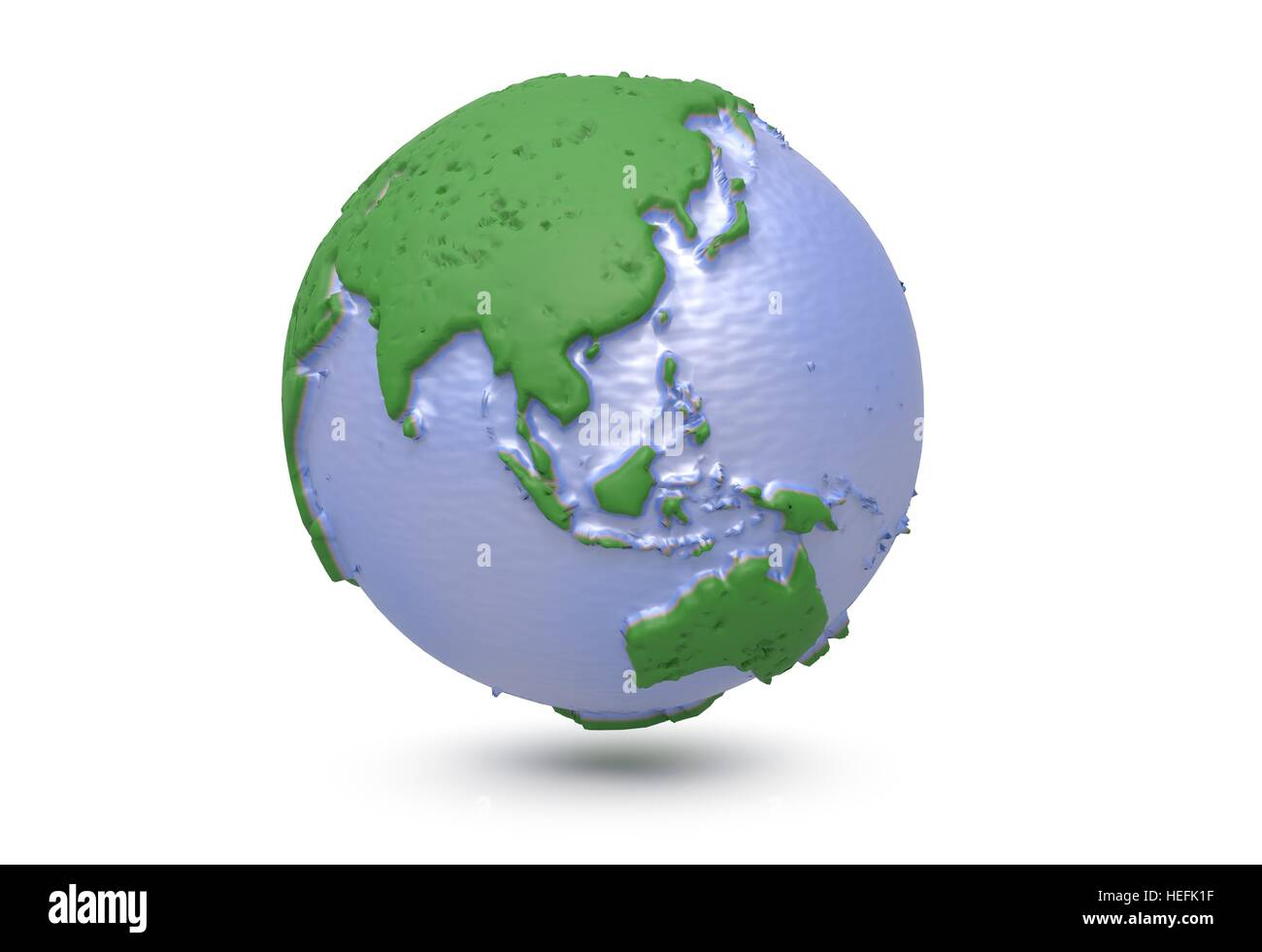 earth world map polygonal globe asia 3d illustration