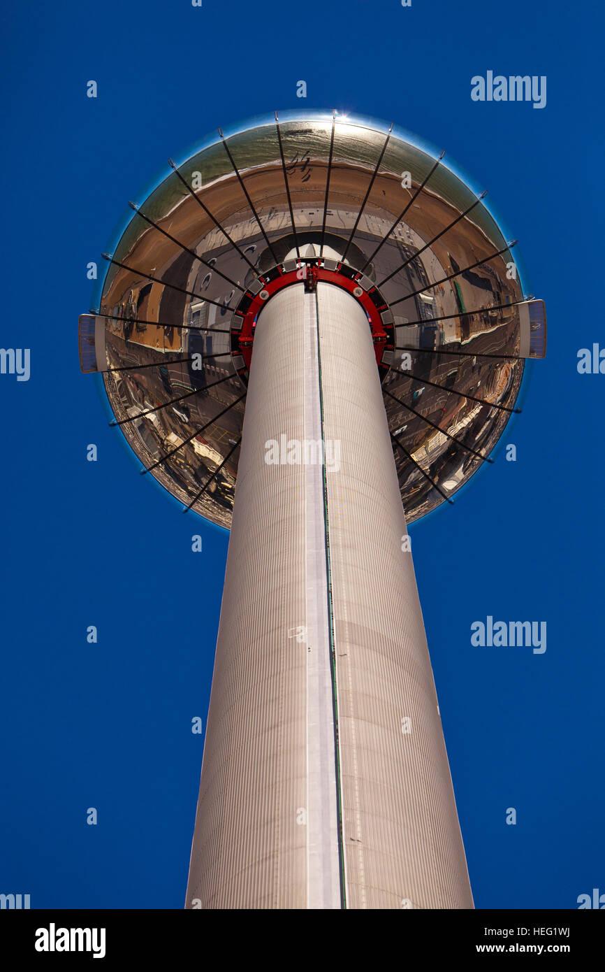 British Airways i360 Observation Tower, Brighton, East Sussex, England, UK - Stock Image