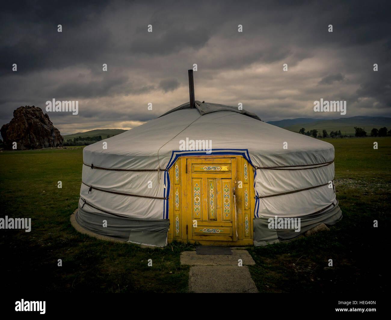 Yurt, Mongolia - Stock Image