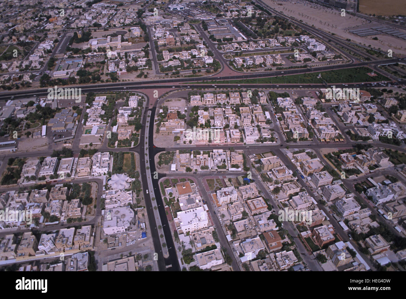 Aerial view of Kuwait city. Kuwait - Stock Image