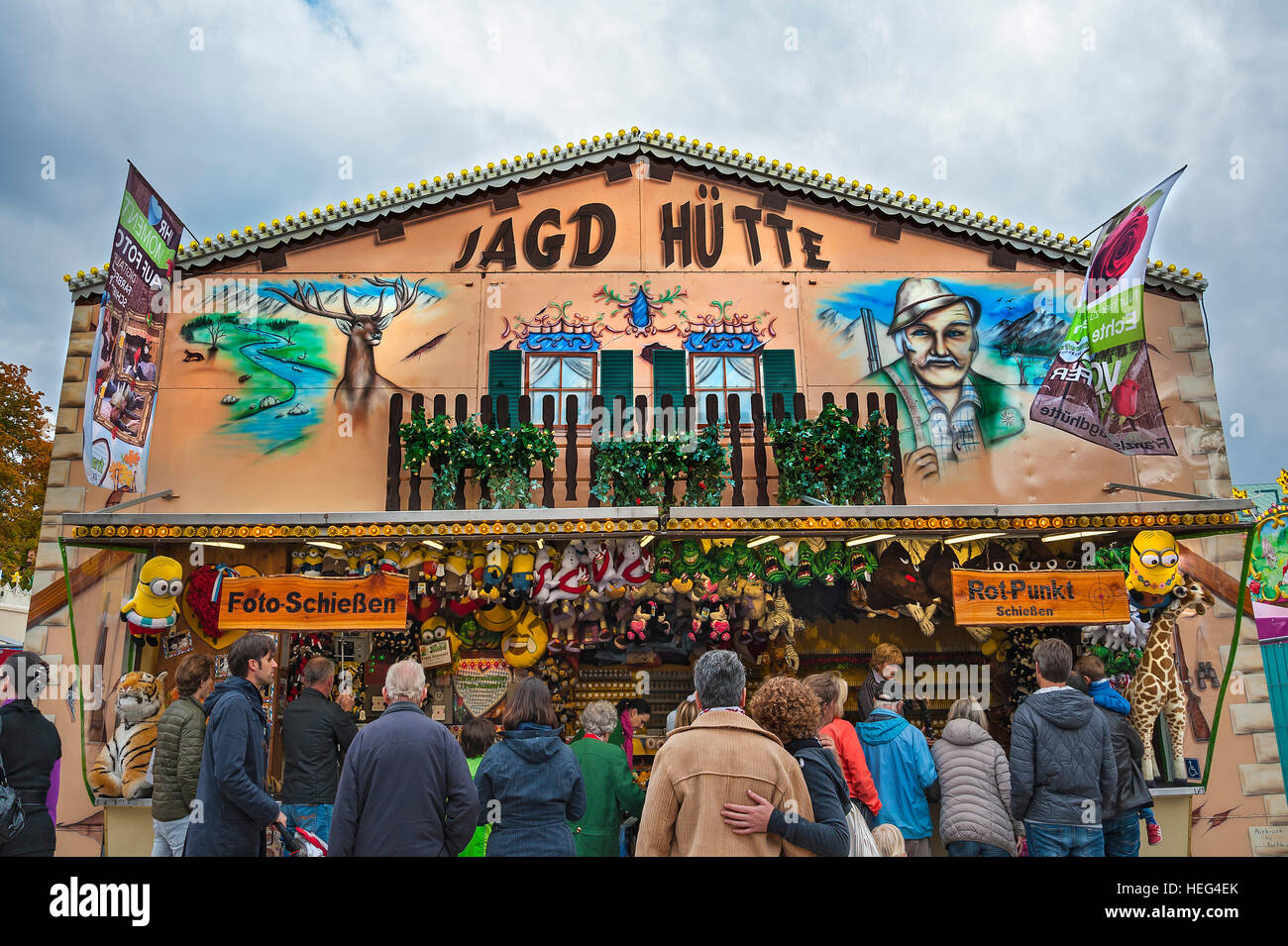 Shooting gallery, Auer Dult, Munich, Bavaria, Germany - Stock Image