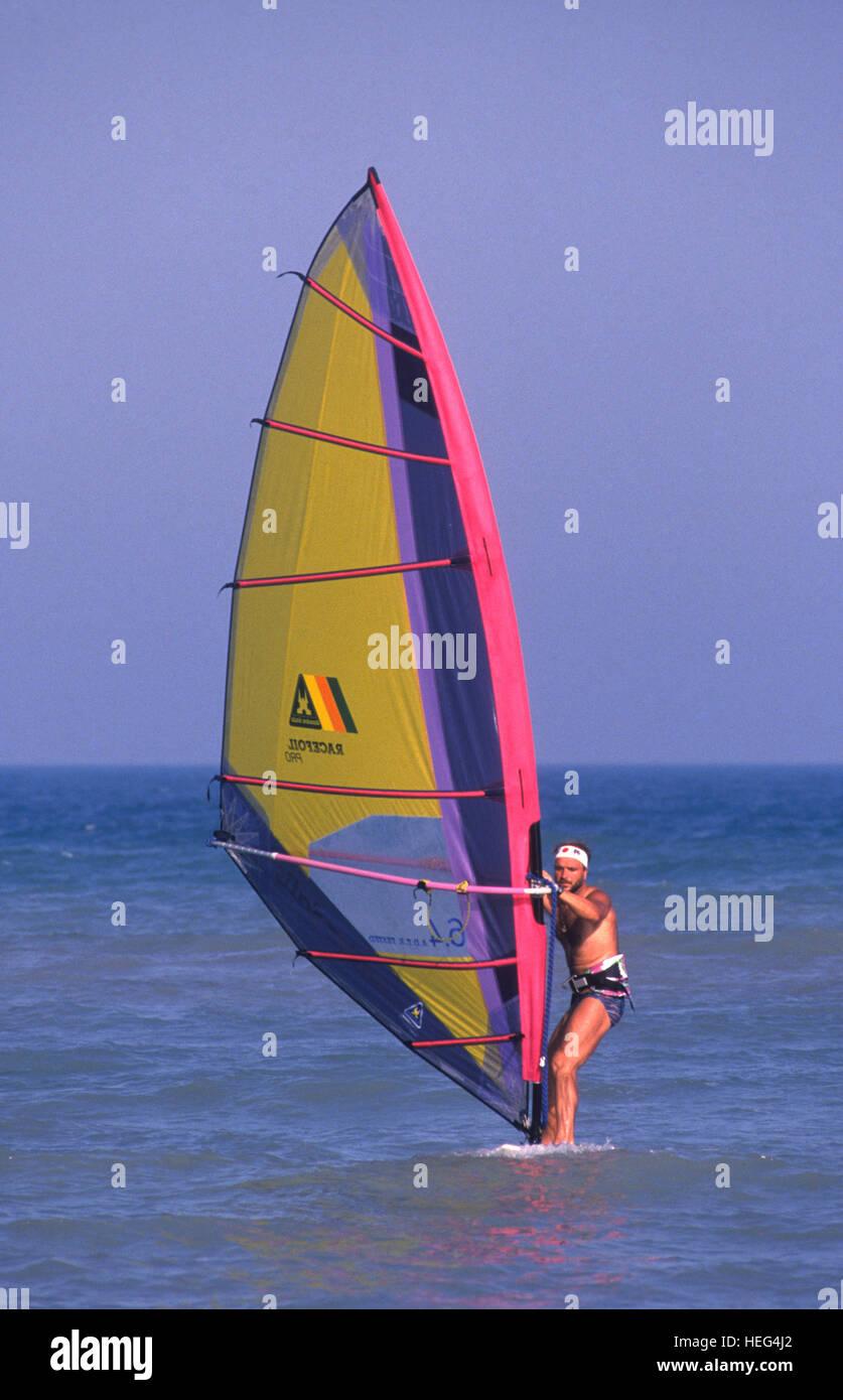 Windsurf on Kuwait coast. Kuwait - Stock Image