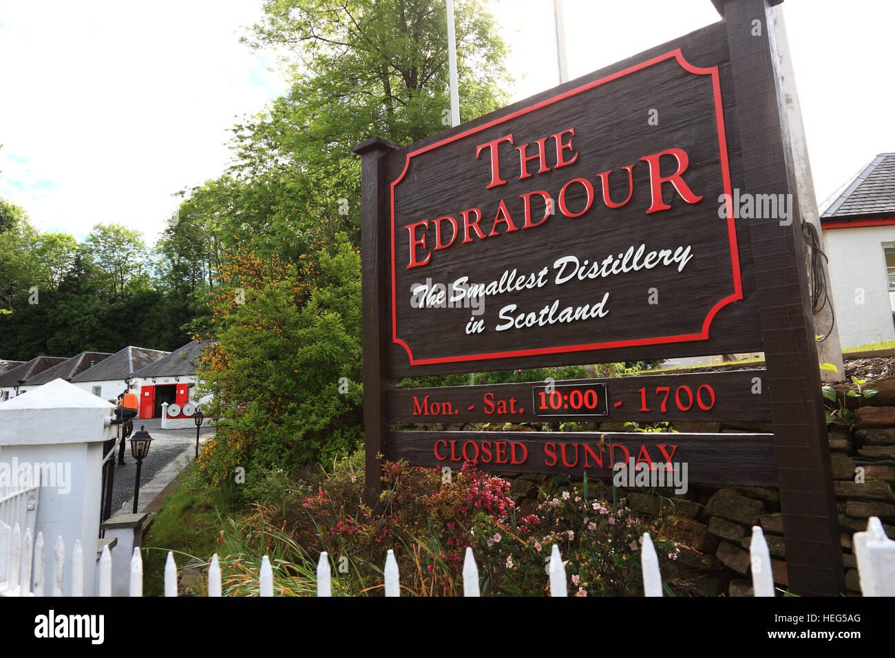 Schottland, Whisky Destillerie Edradour bei Pitlochry - Stock Image