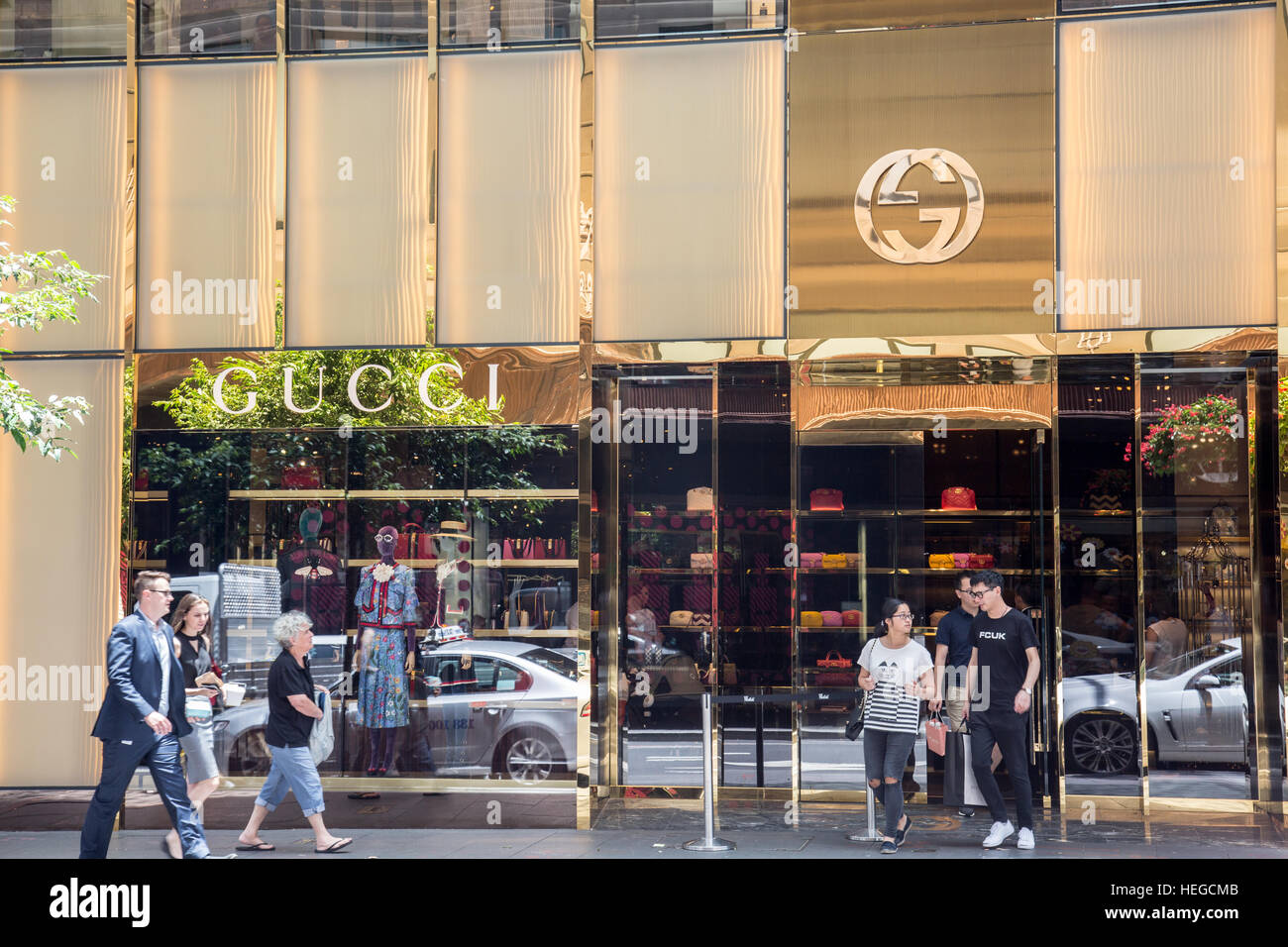 Gucci Luxury Brand Store In Sydney City Centre Australia Gucci Is An Stock Photo Alamy