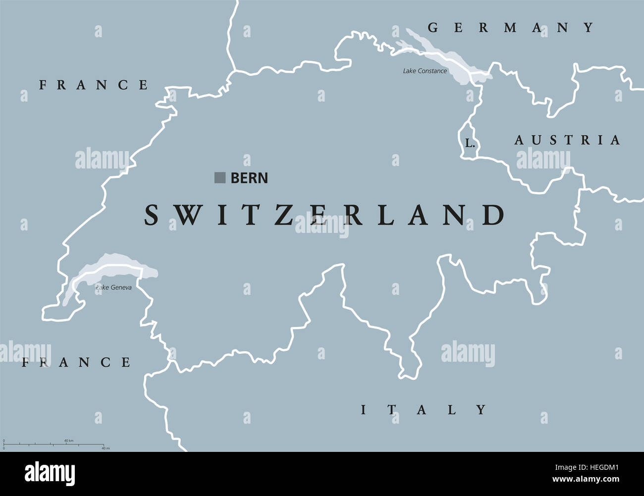 Switzerland political map with capital bern national borders and switzerland political map with capital bern national borders and neighbor countries swiss confederation a federal republic gumiabroncs Images