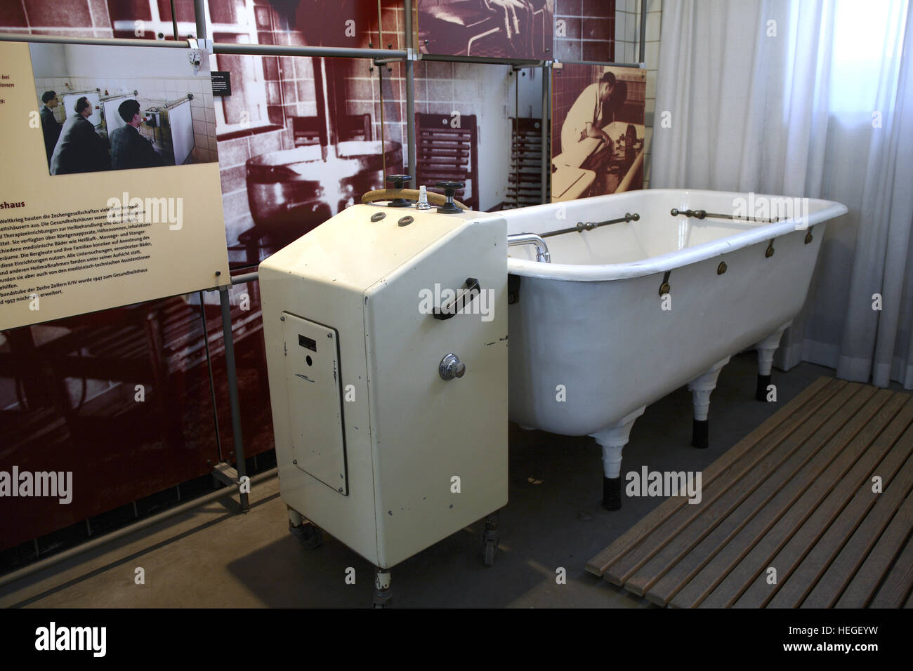 Germany, Ruhr Area, Dortmund, Westphalian industry museum Zeche Zollern in the district Boevinghausen, bath at the health house. Stock Photo