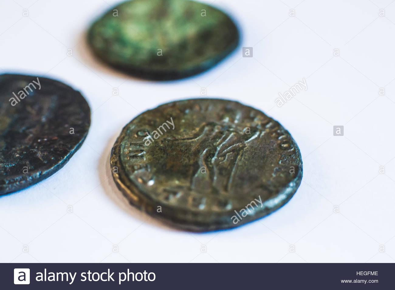 Roman coins  Old coins  Rare  Historical Stock Photo: 129441326 - Alamy