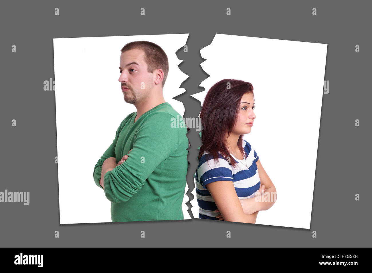 separation or divorce concept - Stock Image