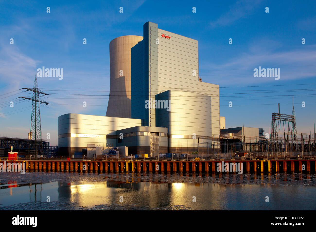 Germany, the E.on hard coal power station Datteln 4, Dortmund-Ems-Canal. - Stock Image