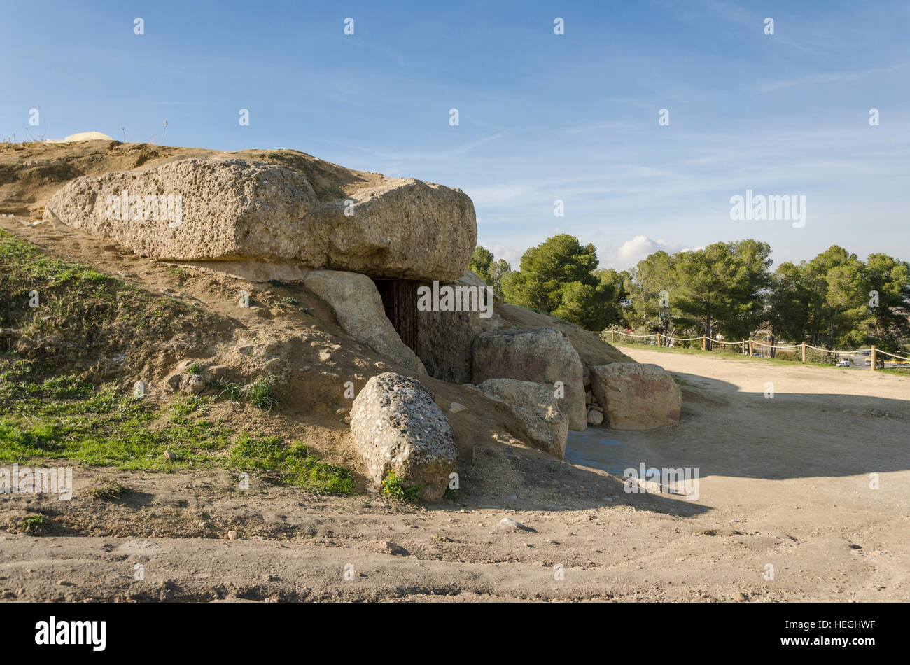 La Menga Dolmen, dolmens, prehistoric burial chambers, megalithic tombs, Antequera, Andalusia, Spain - Stock Image