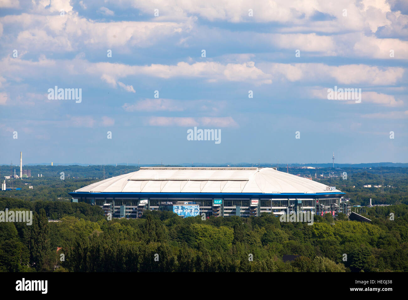 Germany, Gelsenkirchen, the soccer stadium Veltins-Arena, Arena auf Schalke. - Stock Image