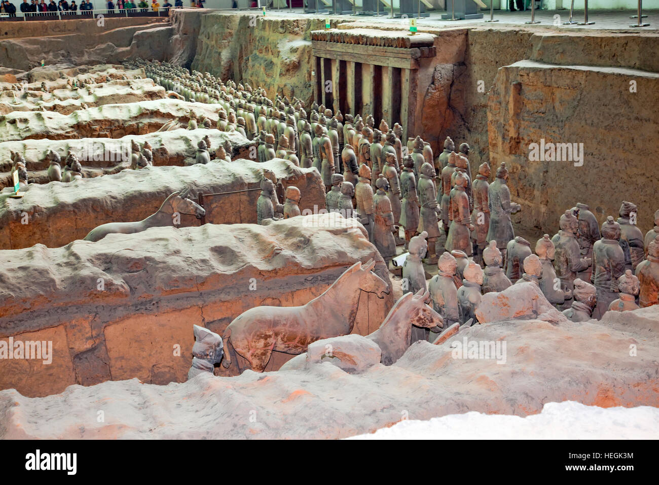 Emperor Qin's Terracotta Army, Xi'an, Terra Cotta Worriers in China - Stock Image