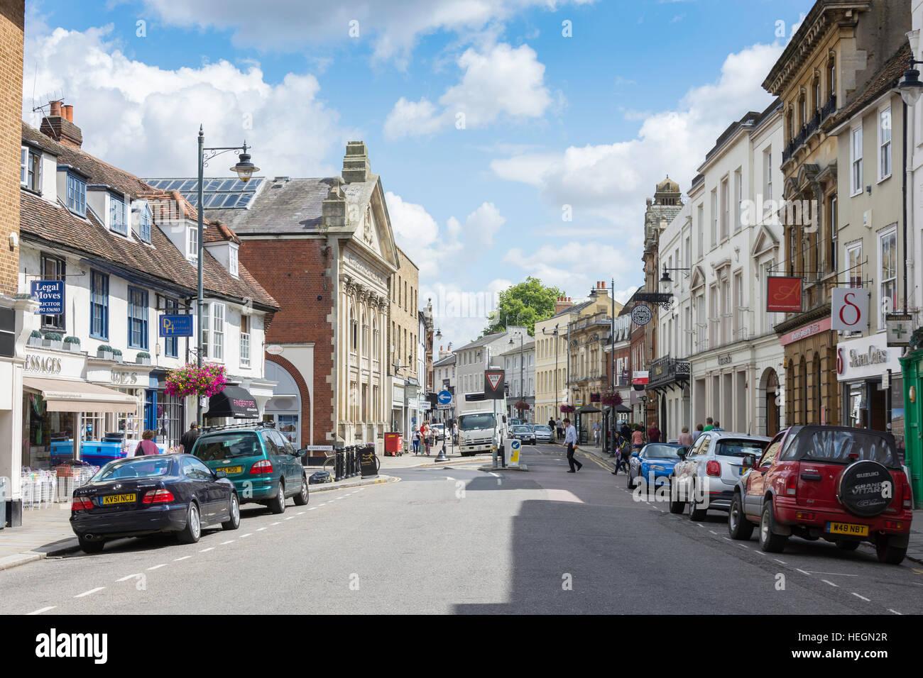 Fore Street, Hertford, Hertfordshire, England, United Kingdom - Stock Image