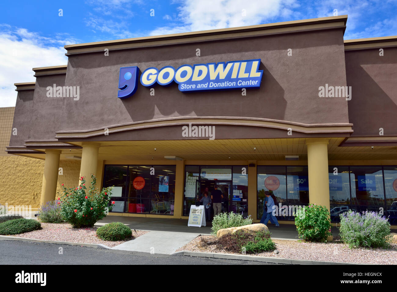 Goodwill store and donation centre, USA - Stock Image